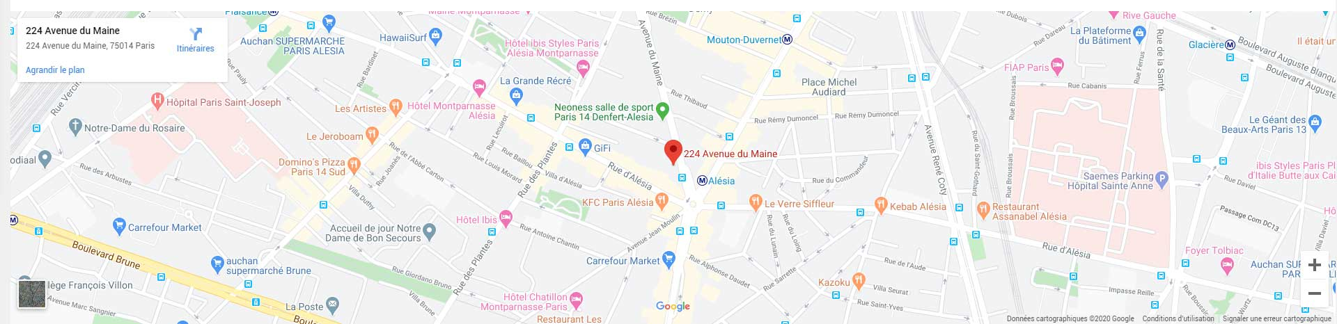 Plan d'accès Dr NGUYEN, acupuncteur et médecin esthétique à Paris